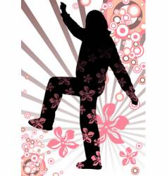 spring girl silhouette vector image