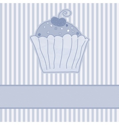 Retro cupcakes card vector