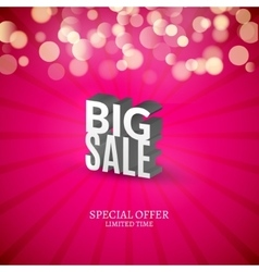 Big sale 3d letters poster promotional marketing vector