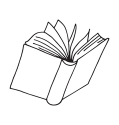 Book icon isolated vector