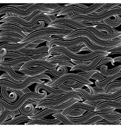 Abstract black wave background vector