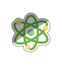 Atom molecule isolated vector
