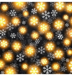 Background with golden falling snow on black vector