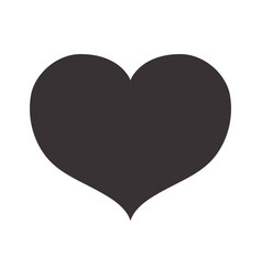 Black nice heart icon design vector
