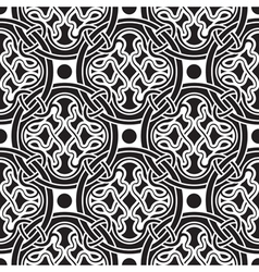 black seamless pattern vector image vector image
