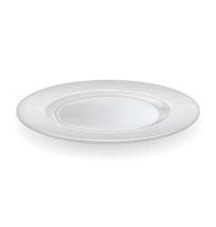 ceramic plate on a white background vector image vector image