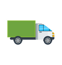 commercial van isolated icon vector image vector image
