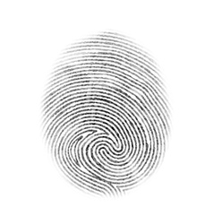Fingerprint Isolated vector image