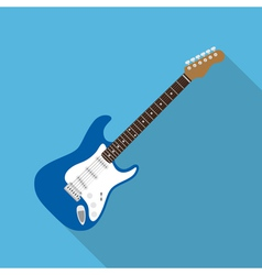 flat guitar vector image vector image