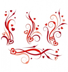 floral swirl design elements vector image
