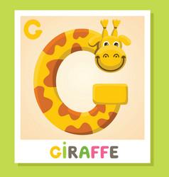 g is for giraffe letter g giraffe cute vector image