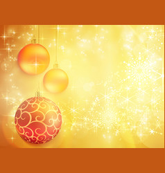 golden christmas design with red and golden vector image vector image