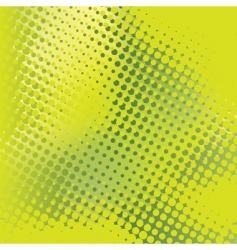 green abstract background with halftone vector image