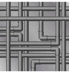 industrial metal background vector image