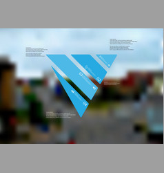 Infographic template with triangle askew divided vector