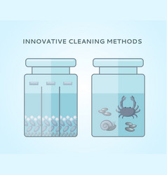 Liquid biological cleaning methods concept vector