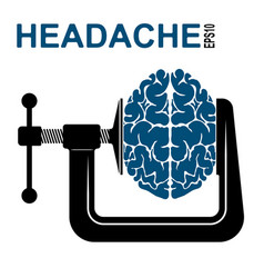 logo or icon about a headache pressure on the vector image vector image