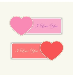 Love labels with I love you text vector image