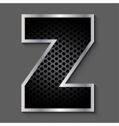 Metal grid font - letter Z vector image vector image