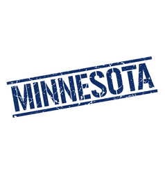 Minnesota blue square stamp vector