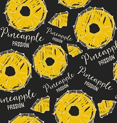 Pineapple seamless pattern background vector image vector image