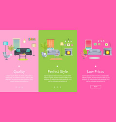 Quality and perfect style page vector