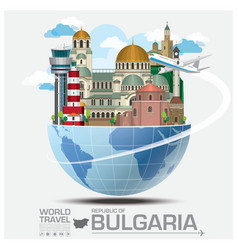 Republic of bulgaria landmark travel and journey vector