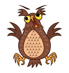 Set isolated emoji character cartoon joy owl vector