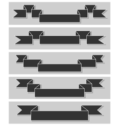 Set of retro ribbons Flat design vector image