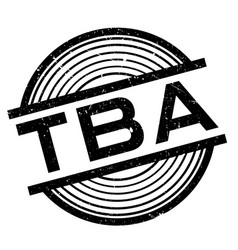 Tba rubber stamp vector