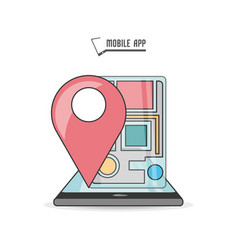 technology smartphone with touch screen and gps vector image vector image