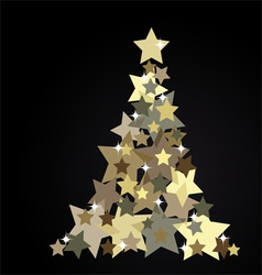 The Abstract Christmas Tree vector image vector image