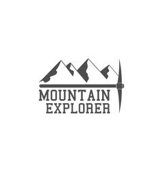 Vintage summer camp badge outdoors logo emblem vector image vector image