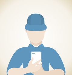 Man phone vector