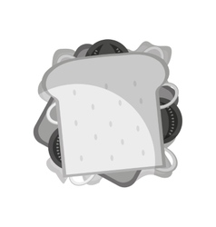 Delicious sandwish fast food icon vector