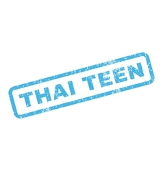 Thai teen rubber stamp vector