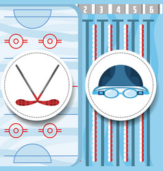 Swimming pool sport game to competition vector