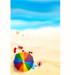 Abstract background top view of sand and sea vector