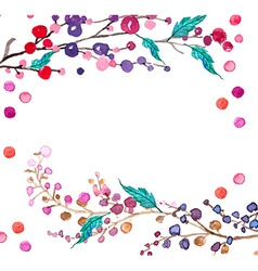 Watercolor flowers background vector
