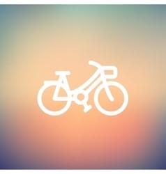 Vintage bicycle thin line icon vector