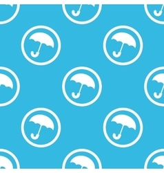 Umbrella sign blue pattern vector