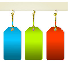 Set of colorful tag labels vector