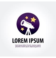 Astronomy logo design template telescope vector