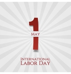 International labor day may 1st greeting poster vector