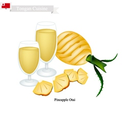 Pineapple otai or tongan coconut and pineapple vector