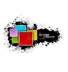 Grunge background with squares vector