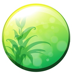 A round border with plants inside vector image