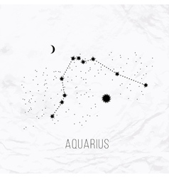 Astrology elements aquarius on white vector