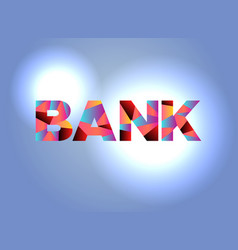bank theme word art vector image vector image
