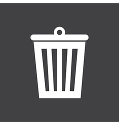 Bin Icon On Dark vector image vector image